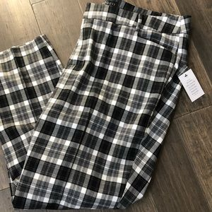 Eloquii Blk/Wht Plaid Trouser NWT